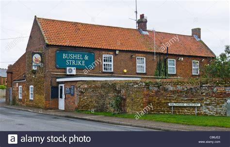 the public house norfolk the bushel and strike public house in heacham on the norfolk coast stock photo