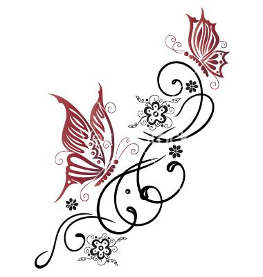tribal flower tattoos tumblr tribal flower butterfly style vector 1534755 by