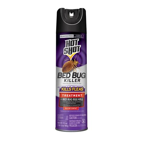 hot shot  oz bed bug  flea killer aerosol spray hg   home depot
