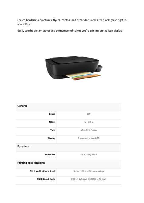 Hp Printer Gt 5810 All In One hp deskjet gt 5810 all in one printer