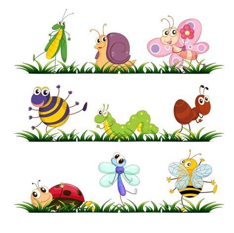 imagenes vectores infantiles divertidos vectores de insectos en dibujo animado