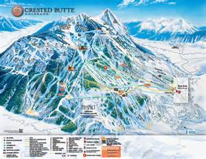 map of crested butte colorado crested butte mountain resort ski trail map crested