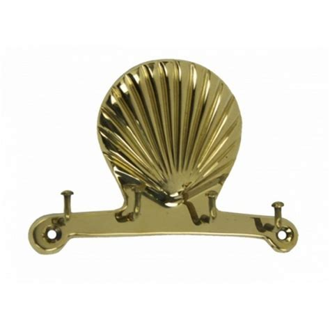 Decorative Key Racks For The Home Buy Solid Brass Scallop Key Rack 5 Inch Wholesale Coastal Decor