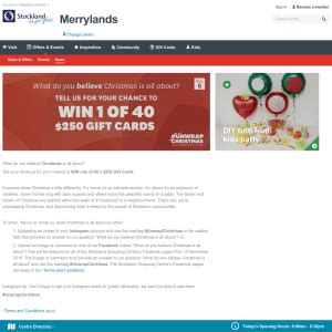 Stockland Gift Card - stockland win 1 of 40 250 gift cards competitions com au