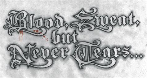 blood sweat and tears tattoo blood sweat design by t o n e on deviantart