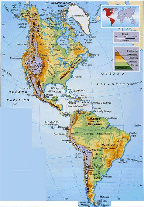 mapa topografico america sur mapa de america con nombres mapa f 237 sico geogr 225 fico