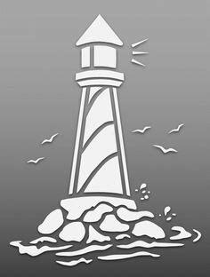 lighthouse stencil  stencils stencils
