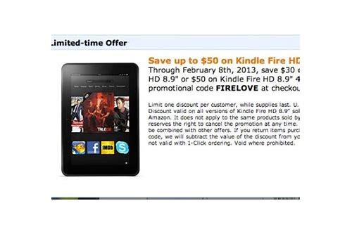 amazon kindle fire discount coupon