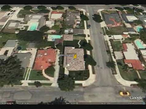 demi lovato house demi lovato s house on google earth former youtube