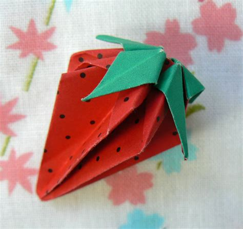 Japanese Paper Origami - strawberry