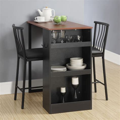 3 pc countertop height bar set table and chairs home