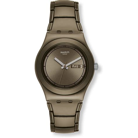 swatch ylc7001ag brown thought
