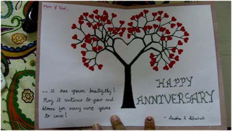 Handmade Anniversary Cards For Parents - anubha celebrates parents anniversary with a
