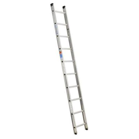 Extension Ladders At Home Depot by Werner 10 Ft Aluminum D Rung Extension Ladder