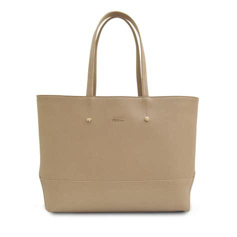 Furla Tote Bag furla medium saffiano tote bag in beige taupe lyst