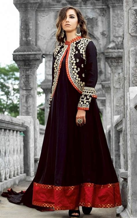 Jacket Design Frocks | indian jacket style dresses and jacket style frocks 2017