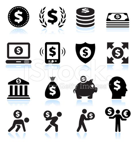 money dollar vector icon black and white business and finance vector icon sets bubaone