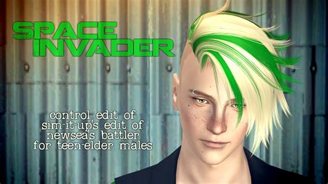 sims 4 half shaved side hair half shaved hairstyle by aikea guinea sims 3 hairs