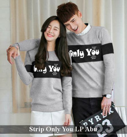 Sweater Tone You Murah baju only you lp abu harga 120rb reseller 100rb vlovi