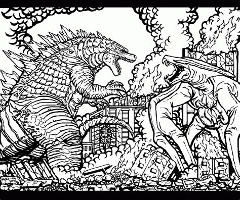 coloring pages  godzilla coloring home