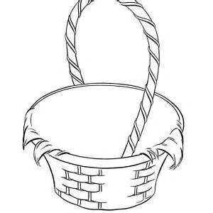 Basket Coloring Page  Style Pages sketch template