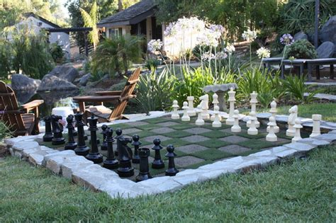 outdoor chess set contemporary landscape san diego