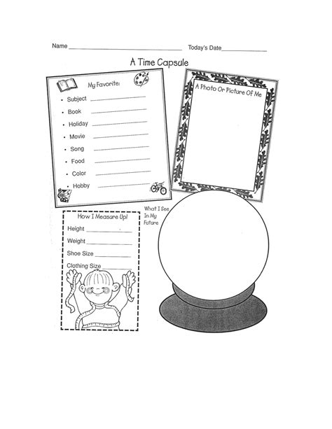new year activities for cubs time capsule worksheet scout activity scout