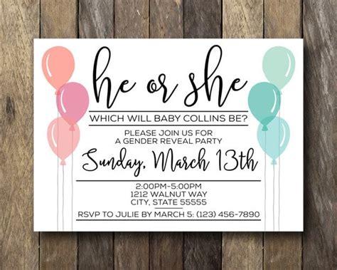 Gender Reveal Invitations Popsugar Moms Free Printable Gender Reveal Invitation Templates