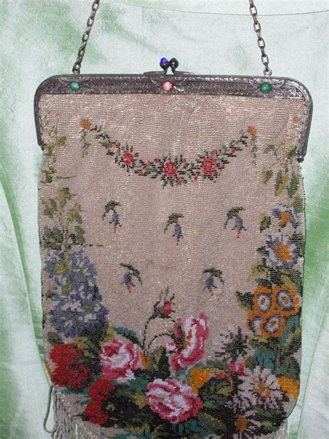 how to make beaded bags and purses vintage beaded purse antique flower pattern