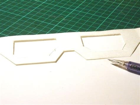 How To Make 3d Glasses Out Of Paper - 3d glasses 183 how to make eyewear 183 papercraft on cut out
