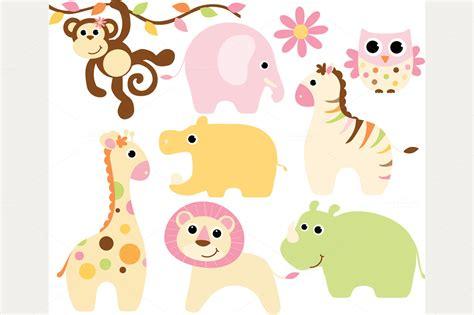 Baby Animal Clipart Baby Shower by Baby Shower Giraffe Clip