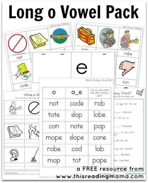 printable vowel letters long o vowel pack free printable posts the end and