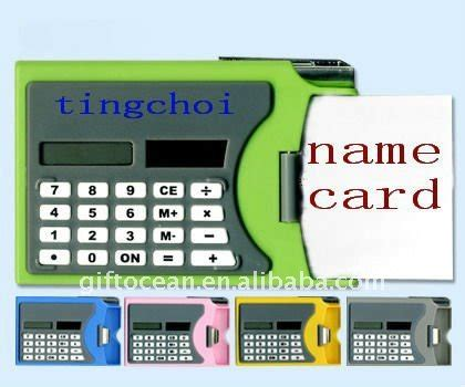 896 5 Ct Fluorite Memo promotional 8 digits solar calculator with memo pen
