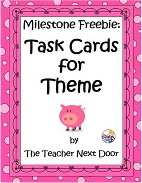 Next Door Buddies Free by Task Cards For Themes In Literature Common 4th And