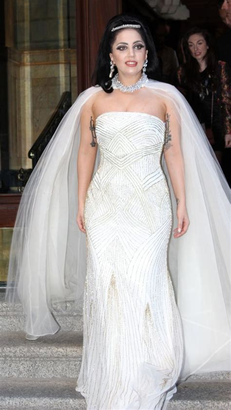 Dress Gaga gaga leaves hotel in wedding dress arabia weddings