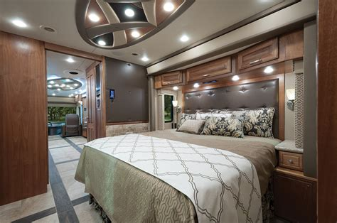 rv with king size bed realm of one motorhome magazine