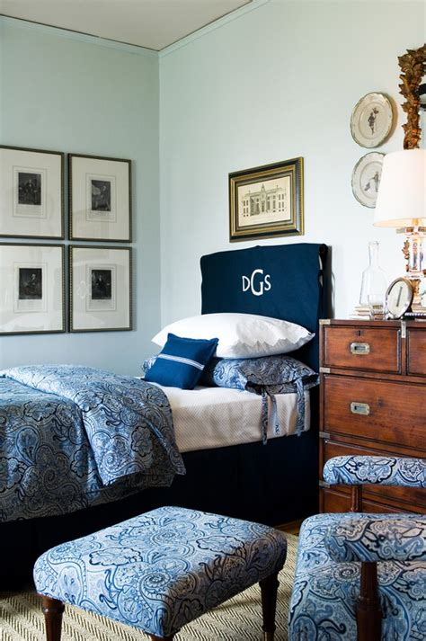 monogrammed headboard slipcover design details monograms in your decor interiors by