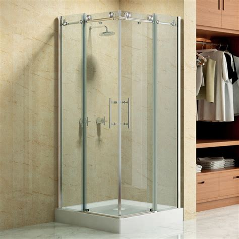36 Corner Shower by 36 Quot X 36 Quot Square Frameless Corner Shower Enclosure With