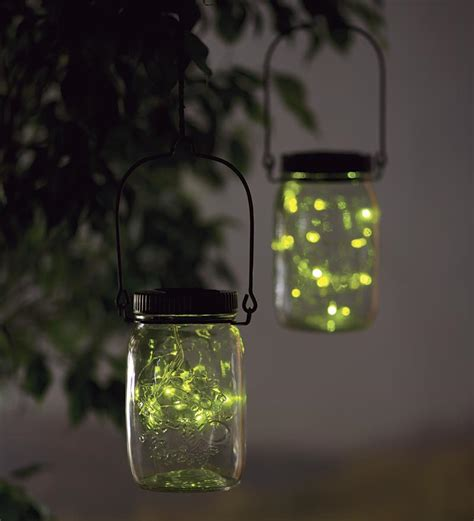 Firefly Outdoor Lights Solar Firefly Jar Decorative Outdoor Light Solar Accents