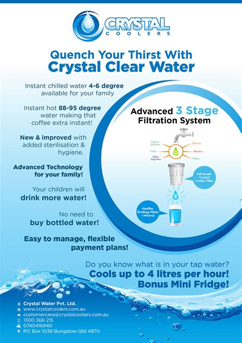Flyer Design Water | design a product flyer for a water cooler freelancer