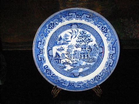 Dziner Ori Blue List White Blue willow royal doulton porcelain plate figurative blue white