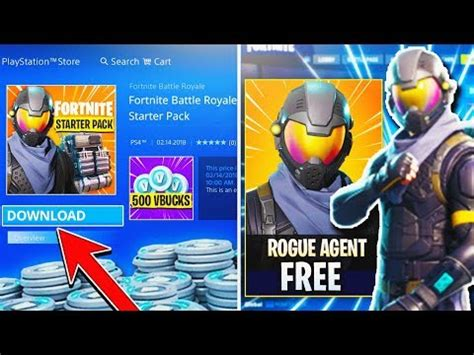 fortnite rogue new free quot starter pack quot rogue skin vbucks fortnite