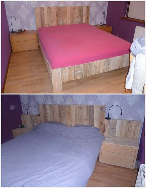 Bed With Side Headboard 25 Diy Recycled Wooden Pallet Projects Try Out At Home Pallet Wood Projects