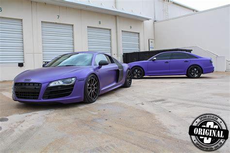 Purple Audi R8 by Avery S Matte Purple Audi R8 V10 By Superior Auto Design