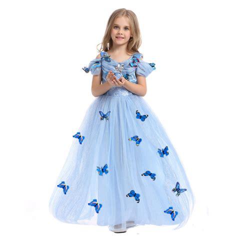 aliexpress com buy halloween costume for girls off shoulder 4 12 year old kids cinderella