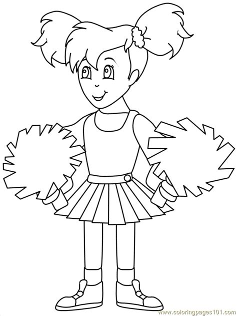 printable coloring pages cheerleaders coloring pictures of cheerleaders coloring home