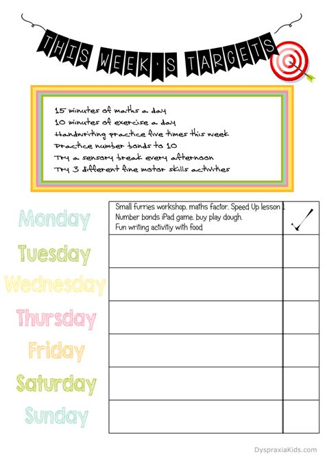 free printable learning targets do you have summer learning goals free printables