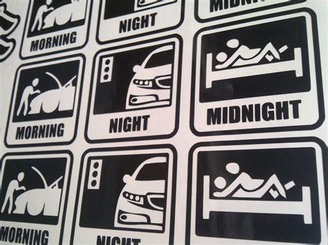 Dijamin Stiker Mobil Jdm Drift King Sticker Cutting Kaca morning midnight jdm style sticker piggy sticker