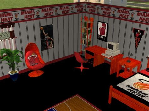 miami heat bedroom mod the sims miami heat bedroom requested by iamjbird