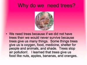 planting trees why do we need trees